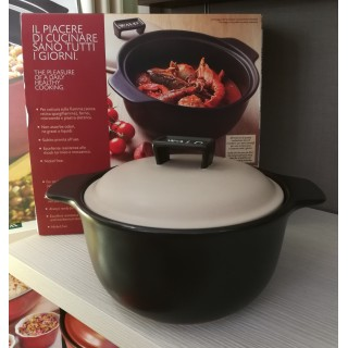 Cooking pot with lid- Black