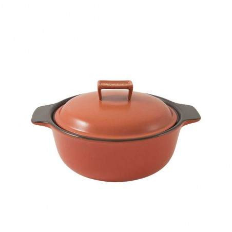 Brick-Red induction cooking...