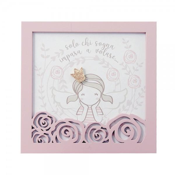 "Square ""Little Girl"" - Gift/Wedding Favour"
