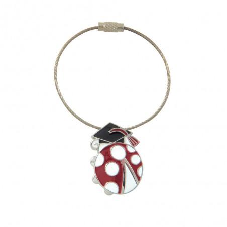 Metal Keychain With Ladybug...