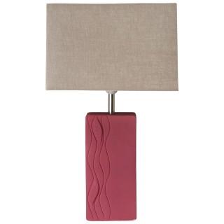 Large Red Ceramic Lamp