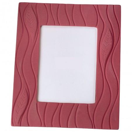 Large Red Ceramic Photo Frame