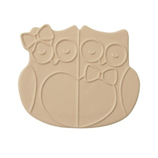 Ceramic Trivet Owls -Dove...