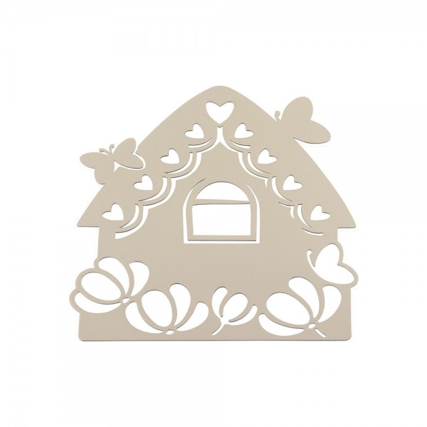 Favor Trivet Little House With Perforated Metal Butterflies