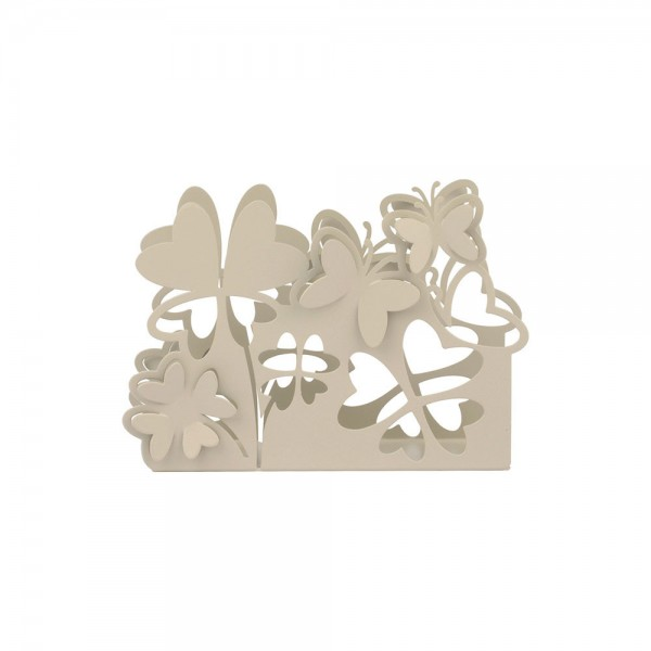 Favor - Napkin Holder With Butterflies and Shamrocks - Perforated Metal
