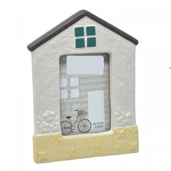 House-shaped ceramic photo frame