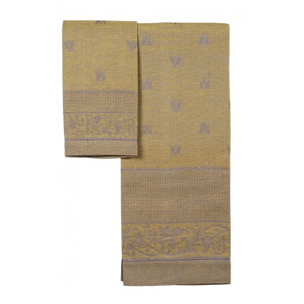 Pair of Pure Linen Towels Bees Design
